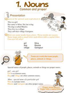 Grade 3 Grammar Lesson 1 Nouns – common and proper
