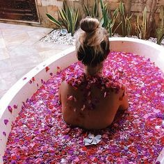 Depending on which flower you choose, bathing in fresh foraged blooms can be a real treat for your skin!