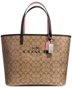 COACH TOTE IN SIGNATURE C COATED CANVAS - All Handbags - Handbags & Accessories - Macy's