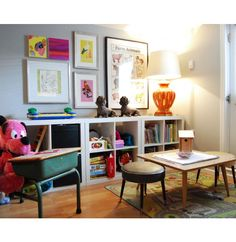 Storage cubes for a playroom