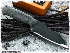 Steve Ryan: Warcom Mod 1 Fixed Blade - Black Complex Grind CPM 3V