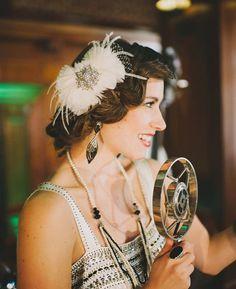 Ivory Bridal Hair Accessories, Ivory Bridal Fascinator, Wedding Headpiece, Feather Head piece, Birdcage Veil Bow - Made to Order - AUBREY