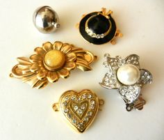 No.5 Clasps for jewelry  vintage 60s and 70s by RAKcreations