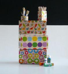 Spring   |Sets by Elpiojito. Cajas de madera decoradas con decoupage por El Piojito. www.elpiojito.es