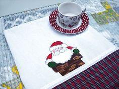 Pintura em tecido com motivo natalino