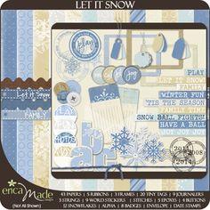 Pk 3 let it snow plaques topper embellissement pour cartes ou artisanat