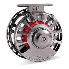 Tibor Signature Series Fly Reel Graphite Gray with Crimson Hub