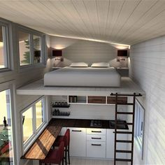 35 incredible Tiny House Interior Design Ideas The concept of a house may seem intimidating to some, but cob houses are far more than a little clay hut. Tiny house kits or shells can supply a great foundation and save you a significant sum of Tiny House Loft, Best Tiny House, Tiny House Plans, Modern Tiny House, Home Design, Tiny House Design, Home Interior Design, Casas Containers, Storage Containers