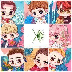 They come back. #EXO #KOKOBOP #THEWAREXO #XIUMIN #SUHO #BAEKHYUN #CHEN #CHANYEOL #DO #KAI #SEHUN Kpop Exo, Exo Kokobop, Exo Cartoon, Chibi, Exo Stickers, Band Stickers, Exo Anime, Chanyeol Baekhyun, Park Chanyeol