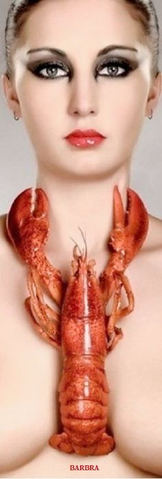 Lobster Feast, Lobster Party, Makeup Needs, Special Pictures, Portraits, Editorial Fashion, Orange Color, Fashion Photography, Art Photography