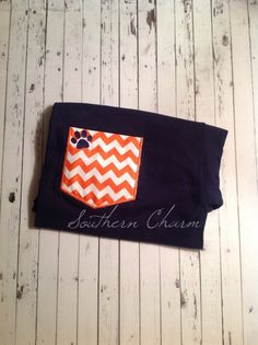 Auburn Faux pocket tee by SouthernCharmCo on Etsy, $20.00