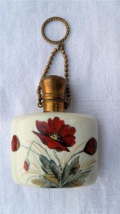 Antique Porcelain Chatelaine Scent Perfume Bottle C1900 by cristina