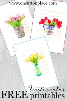 DIY Watercolor Printables | Make your own DIY Wall Art! | onsuttonplace.com