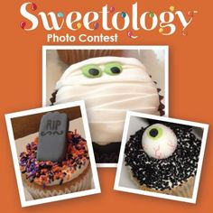 Submit a picture of your scary-good, hand decorated Halloween cookie, cake, or cupcake decoration made here at Sweetology, or in your home! The picture with the most votes at the end of the contest will receive a custom take-home decorating kit delivered by RunnerSTL!  https://www.facebook.com/SweetSweetology?sk=app_451684954848385&brandloc=DISABLE&app_data=chk-543976b2de96d