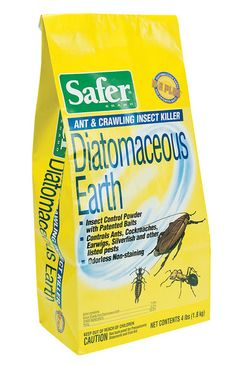 Diatomaceous Earth is a super-fine dust that kills by abrading and dehydrating crawling insects. It controls slugs, ants, cockroaches, earwigs, fleas, and other crawling insects without the use of chemicals.