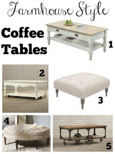 Farmhouse Style Coffee Tables