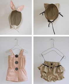 Adorable, all of it. Vintage inspired bunny and bear hats, rompers, shorts.