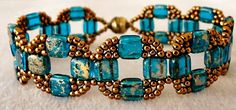 Linda's Crafty Inspirations: Bracelet of the Day: Coin Bands - Capri Blue