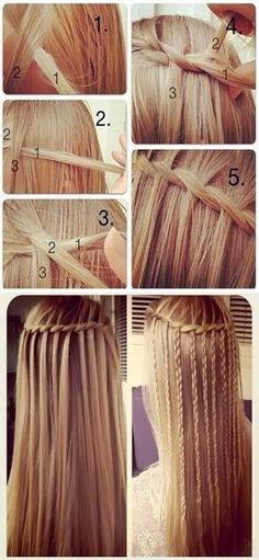 How to Do a Waterfall French Braid #hair #style #hairstyle by bridgette.jons