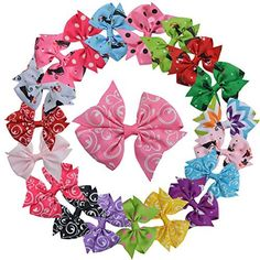 Qandsweet Baby Girl's Ribbon Grosgrain Clips Hairpins Barrettes (20 Pack 3 Bows Flower Design) Color: 20 Pack 3 Bows Flower Design Model: HD4, Toys and Games for Kids and Child >>> Read more reviews of the product by visiting the link on the image.