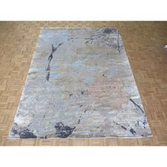 Hand Knotted Modern with Bamboo Oriental Rug