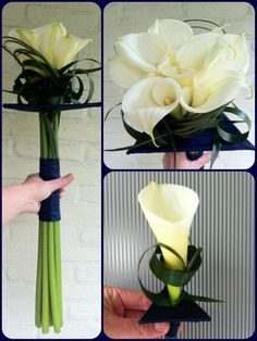 Modern geometric wedding bouquet and corsage # blommarie