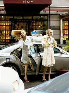 Gemma Ward and Lily Donaldson inCoat Checkfor Vogue US    forVogue US, February 2006