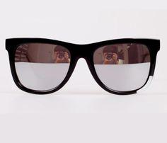 Men Women Sunglasses Mirror Lens UV400 Fashion Glasses Square Frame Eyewear #OPTICSMUSEUM #Square