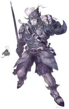 Steiner by Yoshitaka Amano #final #fantasy #9