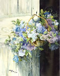 carolyn blish art | Blue Hydrangeas - Carolyn Blish
