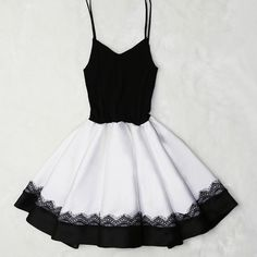 Eyelash-Lace-Trim A-Line Cami Dress