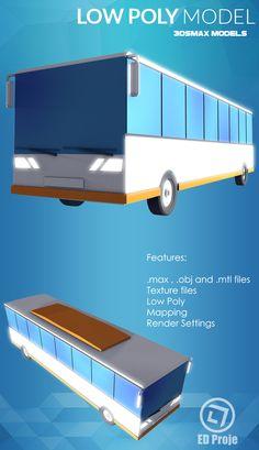 Low Poly Model 07 Car Bus