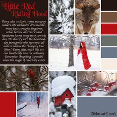 February Mood Board. #LittleRedRidingHood #FairyTales #NationalTellAFairyTaleDay #February #MoodBoard #BeCreative #PaintedPlanet