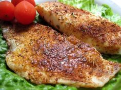Seasoned Talapia Fillets Found in Taste of Home Quick Cooking. It is a simple, easy and a light dinner. You could use any kind of white fish and I would think it would still be delicious.I used 3 small talapia fillets. I also added some fresh garlic a Seafood Dishes, Seafood Recipes, Cooking Recipes, Healthy Recipes, Healthy Meals, Cooking Tips, Frozen Tilapia, Fish Dinner, Baked Fish