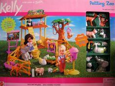 Barbie - Kelly Petting Zoo Playset (2000) by Mattel, http://www.amazon.com/dp/B00112L15O/ref=cm_sw_r_pi_dp_-KDZrb1RFRNVR