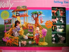 Barbie - Kelly Petting Zoo Playset (2000) by Mattel, http://www.amazon.com/dp/B00112L15O/ref=cm_sw_r_pi_dp_-KDZrb1RFRNVR