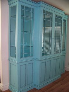 Turquoise Hutch Re-do. Love this!!
