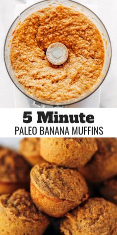 51 calorie banana muffins made out of special potatoes rather than flour! Nutritious paleo banana bread muffins help make simple paleo breakfasts for on the run. Kid helpful paleo snack thought. Sweet Potato Flour, Sweet Potato Muffins, Paleo Sweet Potato, Sweet Potato Breakfast, Comidas Paleo, Desayuno Paleo, Menu Dieta Paleo, Paleo Banana Muffins, Healthy Muffins