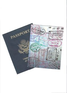 Passport word template: would be fun to make a passport page for each trip too, decorated wih stickers and stuff?