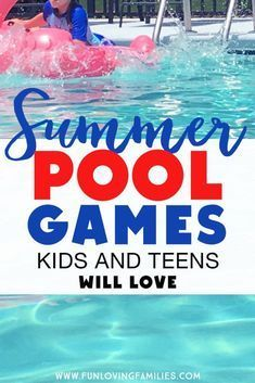 These fun pool games for kids and teens will keep them swimming all summer long. Save these games for your pool party ideas! These fun pool games for kids and teens will keep them swimming all summer long. Save these games for your pool party ideas! Pool Games Kids, Pool Party Activities, Swimming Pool Games, Backyard Party Games, Kids Party Games, Games For Teens, Fun Games, Water Games, Teen Pool Parties