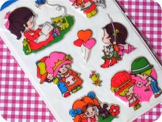 Vintage Big Eyed Kids Puffy Stickers 1978 by HelloKewpie on Etsy, $8.00