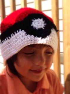 Pokeball Beanie for adults on Etsy, $15.00