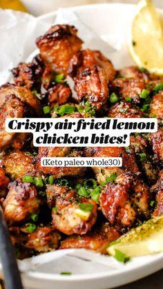 Air Fryer Oven Recipes, Air Frier Recipes, Air Fryer Dinner Recipes, Air Fryer Chicken Recipes, Appetizer Recipes, Healthy Grilled Chicken Recipes, Best Chicken Recipes, Appetizers, Low Carb Recipes