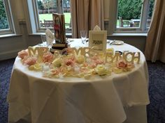 Top table for two styled by the team at Blomster Designs with #meijer roses
