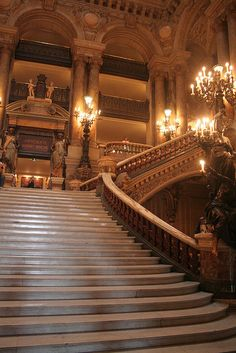 Paris Opera House - Paris.  Again with my fascination of grand staircases.....