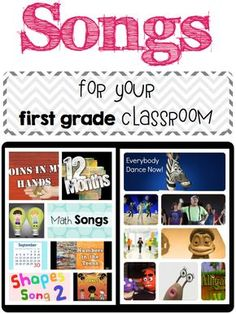 The other day I blogged about using songs in your classroom. I had a bunch of people email me asking me what songs I use in my classroom. At my school we are allowed to use Youtube so I'm so sorry that I don't have songs if you can't use Youtube. I know that I have heard there are ways around it; however, I am am unaware how to do th...