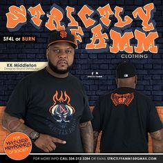 Orange Fire/Blue/Black Strictly FaMM 4 Life T-Shirt design edition