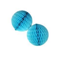 Pequeñas bolas de nido de abeja para decorar fiestas, de www.fiestafacil.com - €6,45 para 3 / Small honeycomb balls for party decorations, from www.fiestafacil.com