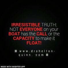 Your Success hinges on Who's in Your Boat!