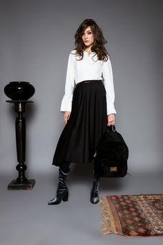 Málnai blouse by Celeni Black Button, Blouse, Skirts, Fashion, Moda, Fashion Styles, Blouses, Skirt